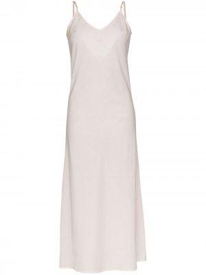 Ночная сорочка макси Pour Les Femmes. Цвет: розовый