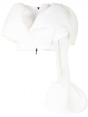 Укороченная блузка в клетку Maticevski. Цвет: белый