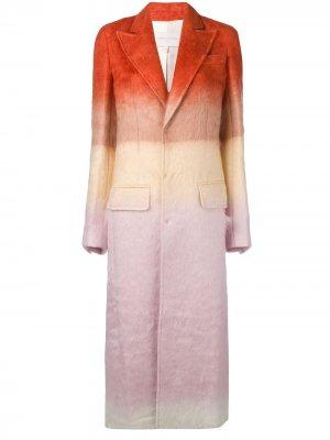 Классическое однобортное пальто Esteban Cortazar. Цвет: оранжевый