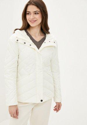 Куртка утепленная Finn Flare. Цвет: белый