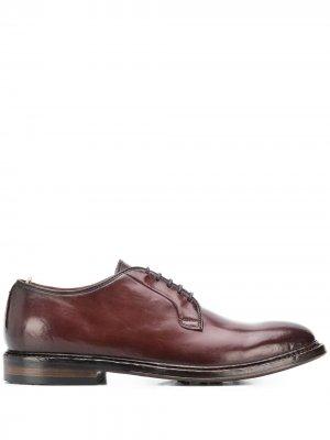 Туфли дерби на шнуровке Officine Creative. Цвет: коричневый