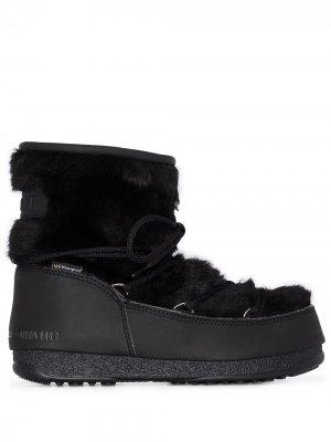 Ботинки Monaco с искусственным мехом Moon Boot. Цвет: черный