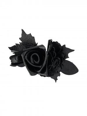 Брошь в виде розы Philosophy Di Lorenzo Serafini. Цвет: черный