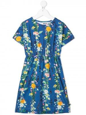 Платье с цветочным принтом Molo. Цвет: синий