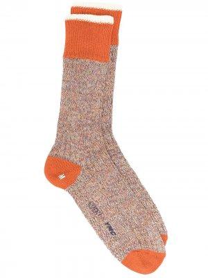 Носки из коллаборации с Corgi YMC. Цвет: оранжевый