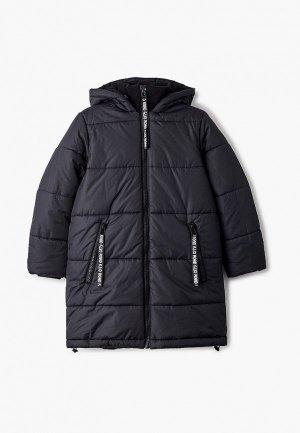 Куртка утепленная Button Blue. Цвет: черный