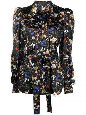 Vampires Wife блузка Heidi с поясом и цветочным принтом The Vampire's. Цвет: черный
