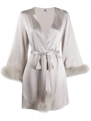 Короткий халат Kitty Gilda & Pearl. Цвет: серебристый