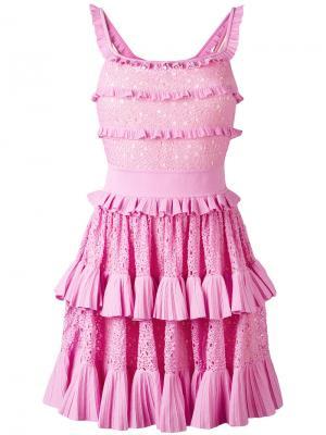 Платье Melissa Antonino Valenti. Цвет: розовый и фиолетовый