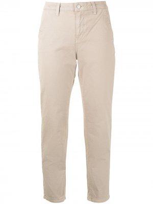 Укороченные брюки с завышенной талией Veronica Beard. Цвет: нейтральные цвета