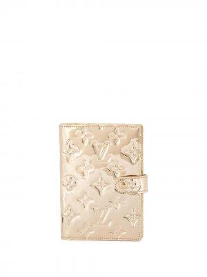 Обложка для блокнота Agenda PM pre-owned Louis Vuitton. Цвет: золотистый