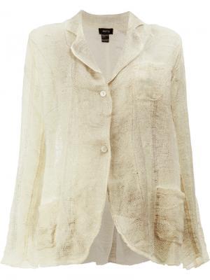 Пиджак с потертым эффектом Avant Toi. Цвет: нейтральные цвета