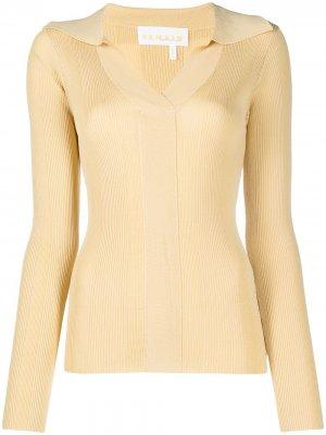 Трикотажная рубашка поло REMAIN. Цвет: желтый