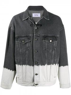 Джинсовая куртка с эффектом деграде Givenchy. Цвет: черный