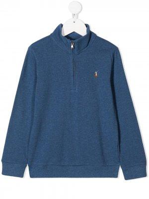 Джемпер с вышитым логотипом Ralph Lauren Kids. Цвет: синий