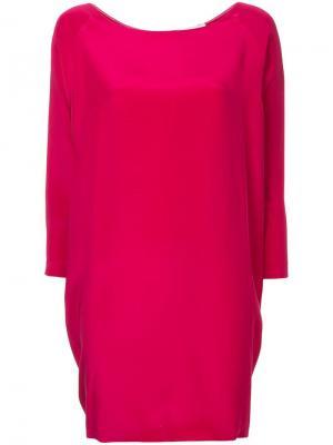 Платье-комбинация Costume National. Цвет: розовый