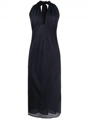 Платье с вырезом халтер Roseanna. Цвет: синий