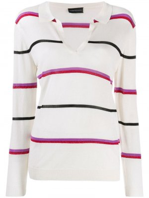 Рубашка-поло в полоску Cashmere In Love. Цвет: нейтральные цвета