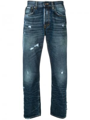 Distressed straight jeans Prps. Цвет: синий