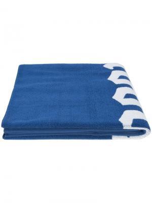Пляжное полотенце с логотипом Noon Goons. Цвет: синий