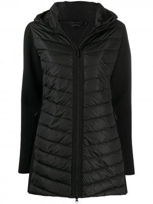 Пальто с капюшоном и дутыми вставками Canada Goose. Цвет: черный