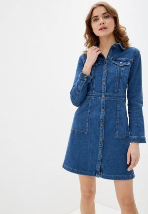 Платье джинсовое Marks & Spencer. Цвет: синий