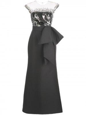Вечернее платье Elisa с пайетками Sachin & Babi. Цвет: серый