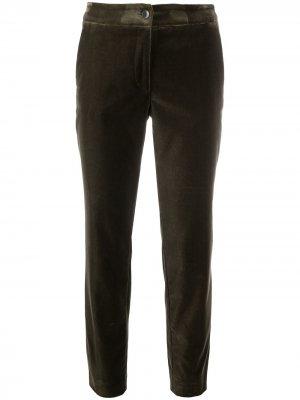 Укороченные брюки кроя слим Etro. Цвет: зеленый