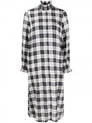 Клетчатое платье миди Baum Und Pferdgarten. Цвет: черный