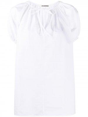 Блузка с вырезами и рукавами кап Jil Sander. Цвет: белый