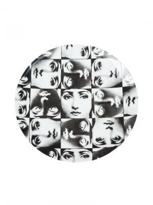 Фарфоровая тарелка Fornasetti. Цвет: черный