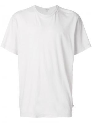 Футболка свободного кроя James Perse. Цвет: белый
