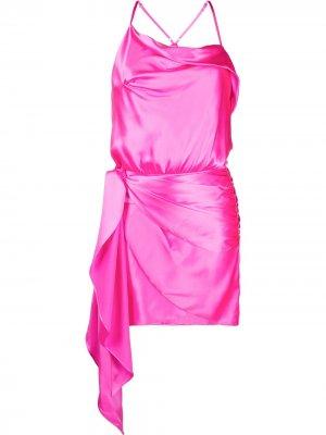 Платье мини на бретелях Michelle Mason. Цвет: розовый
