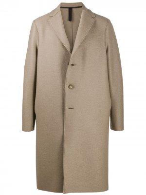Однобортное пальто Harris Wharf London. Цвет: нейтральные цвета