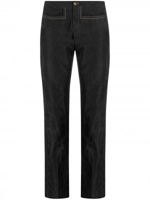 Укороченные прямые брюки 1990-х годов Gucci Pre-Owned. Цвет: серый