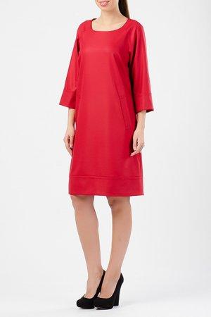 Платье TUZUN. Цвет: красный