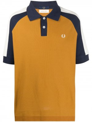 Рубашка поло в стиле колор-блок Fred Perry. Цвет: желтый
