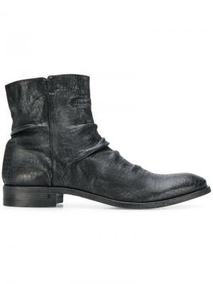 Ботинки на молнии John Varvatos. Цвет: черный