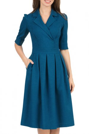 Платье Olivegrey. Цвет: бирюзовый