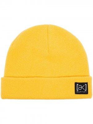 Шапка бини Burton AK. Цвет: желтый