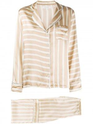 Пижама в полоску Chinti and Parker. Цвет: коричневый