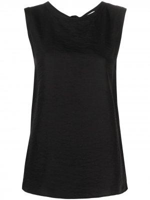 Блузка без рукавов с завязками Alysi. Цвет: черный