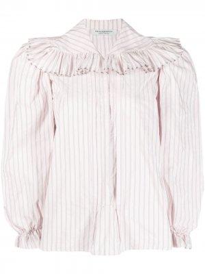 Рубашка с оборками Philosophy Di Lorenzo Serafini. Цвет: розовый