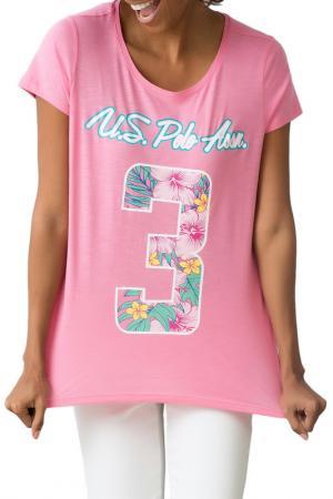 Футболка U.S. Polo Assn.. Цвет: vr041 розовый
