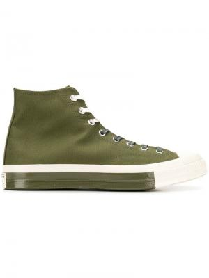 Хайтопы на шнуровке Chuck 70 Converse. Цвет: зеленый