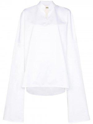 Блузка с удлиненными рукавами SAMUEL GUÌ YANG. Цвет: белый