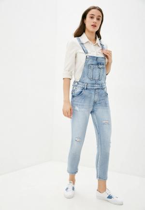 Комбинезон джинсовый Miss Bon. Цвет: голубой