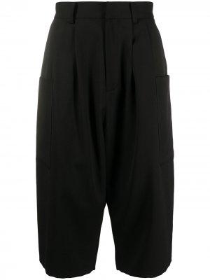 Длинные шорты с низким шаговым швом AMBUSH. Цвет: черный