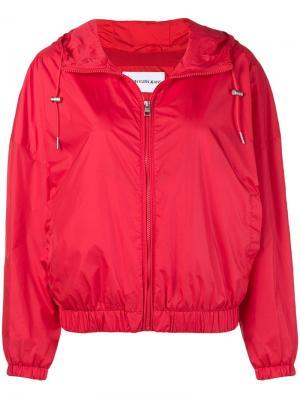 Куртка с капюшоном и принтом логотипа Calvin Klein Jeans. Цвет: красный