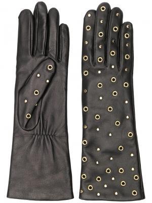 Перчатки с люверсами Agnelle. Цвет: черный